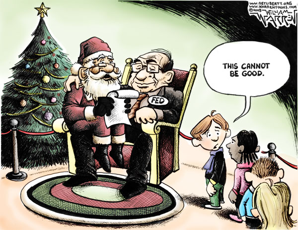Santa comes to the Fed to check his list