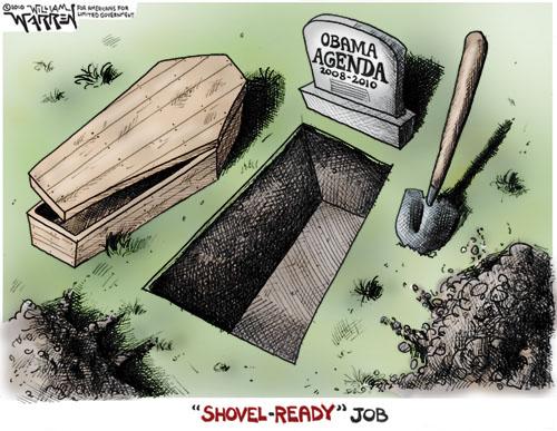 flatten road recovery tear detour signs socialism dsa country obamas shovel ready jobs